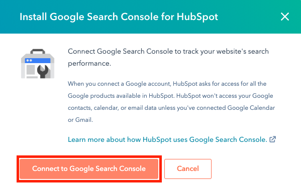 google-search-console-connect-to-hubspot